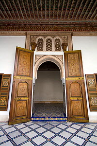 Large doors in the Bahia Palace, Marrakech, Morocco, March 2010. - Toby Roxburgh