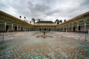 Large open courtyard in the Bahia Palace, Marrakech, Morocco, March 2010. - Toby Roxburgh