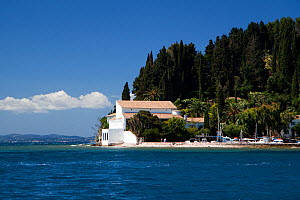 The Agnelli villa and 11th century estate overlooking the ocean is used as a holiday home by the Agnelli (Fiat Motors) family, Kouloura, Corfu, Greece, June 2010.  -  Toby Roxburgh