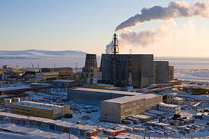 Coal fired power station in the town of Anadyr, Chukotka, Siberia, Russia, 2010  -  Bryan and Cherry Alexander