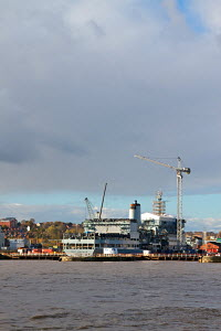"RFA ""Fort Rosalie"" in dry dock at Cammell Laird Shiyard. Birkenhead, River Mersey, England, November 2010. Editorial use only. - Norma Brazendale"