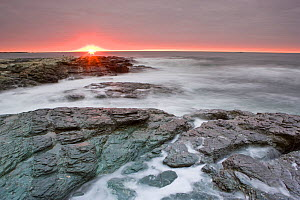 Sunrise near Brenton Point State Park, from Ocean Road, Newport, Rhode Island, USA, October 2009  -  Jerry Monkman