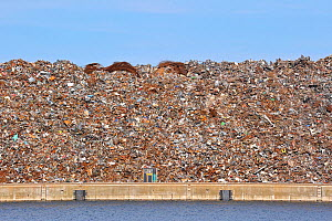 Scrap metal heap along the Ghent-Terneuzen Canal at Ghent seaport, Belgium, August 2010  -  Philippe Clement