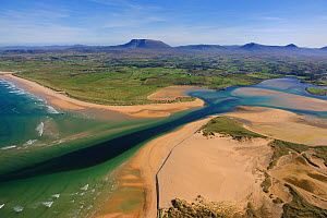 Aerial view of the Dooey Peninsula and Ballyness Bay north of Gortahork, County Donegal, Republic of Ireland, September 2009 - Robert Thompson