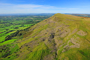 Aerial view of Benbradagh Mountain, north of Dungiven, County Londonderry, Northern Ireland, UK, September 2009  -  Robert Thompson