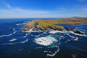 Aerial view of Malin Head, looking east towards Breasty Bay, County Donegal, Republic of Ireland, September 2009  -  Robert Thompson