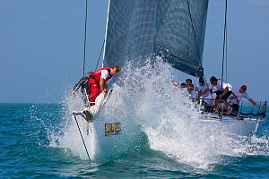 """""""Shockwave"""" during a race in Key West Race Week. Florida, USA, January 2011.  -  Billy Black"""