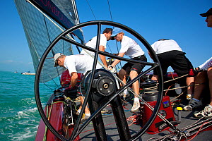 """Action on board RC44 """"Ironbound"""" during Key West Race Week. Florida, USA, January 2011. - Billy Black"""