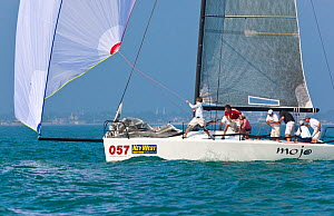 """""""Mojo"""" during a race in Key West Race Week. Florida, USA, January 2011.  -  Billy Black"""