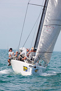 """Melges 32 """"Leenabarca"""" during a race in Key West Race Week. Florida, USA, January 2011.  -  Billy Black"""