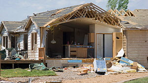A house severely damaged by an EF 3 tornado in Windsor, Colorado, USA, May 2008  -  Visuals Unlimited