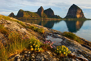 View of Sanna from the island of Husoy, Taena Archipelago, Helgeland, Nordland, Norway, June 2006  -  Orsolya Haarberg