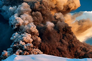 Ash plume from the Eyjafjallajokull volcano eruption, Iceland, April 2010 - Orsolya Haarberg
