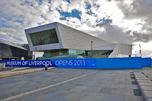 The nearly completed Museum of Liverpool, due to open July 2011. Liverpool, River Mersey, England, November 2010. For editorial use only. - Graham Brazendale