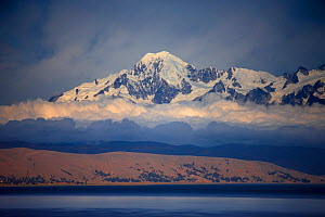The Cordillera Real range of mountains in the Andes from Lake Titicaca, Bolivia, December 2009  -  David Noton