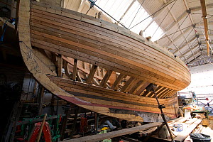 Wooden cutter under construction at the Underfall Yard, Bristol, England, April 2010.  -  Toby Roxburgh