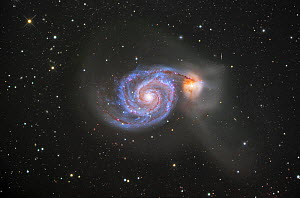 M51 (NGC 5194 and 5195) Colliding Galaxies in Canes Venatici  -  Visuals Unlimited