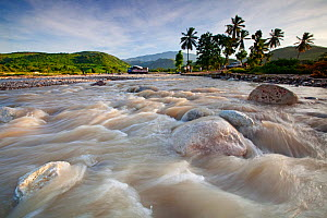 Fast flowing silted river, deforestation, Port-a-Piment, Haiti, October 2010 - Claudio Contreras
