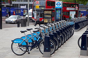 Bicycles for hire in central London, UK  -  Ernie Janes