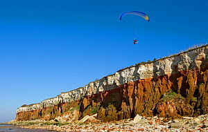 Paragliding over the cliffs of Hunstanton, North Norfolk, UK  -  Ernie Janes