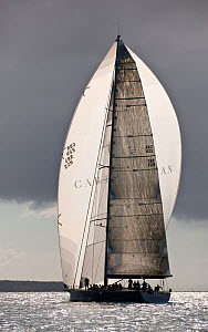 """Aegir Racing Limited"" under spinnaker beneath stormy skies during the Heineken Regatta, St Martin, Caribbean, March 2011. - Onne van der Wal"