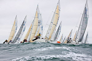 Fleet racing in the J80 World Championships, Newport, Rhode Island, USA, October 2010. - Onne van der Wal