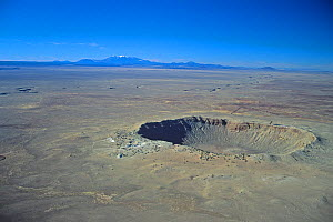 Aerial view of the Meteor Crater, Winslow, Arizona, USA.  -  Visuals Unlimited
