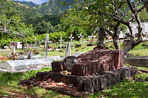 The grave of Paul Gauguin at the Atuona Cemetary on Hiva Oa. Marquesas, French Polynesia, November 2009. - Brent Stephenson