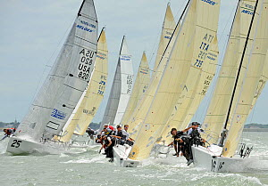Fleet racing on day two of the Melges 24 World Championships, Corpus Christi, Texas, USA, May 2011. - Rick Tomlinson