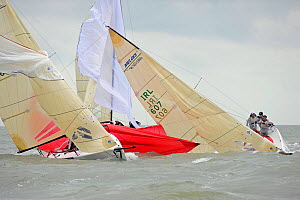"""Hedgehog"" and ""Embarr"" racing on day three of the Melges 24 World Championships Corpus Christi, Texas, USA, May 2011. - Rick Tomlinson"