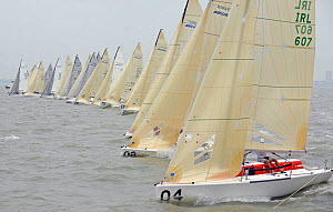 Race start on day five of the Melges 24 World Championships. Corpus Christi, Texas, USA, May 2011. - Rick Tomlinson