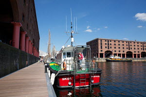 "New pilot boat ""The Skua"" berthed in Albert Dock. River Mersey, Liverpool, England, May 2011. - Graham Brazendale"