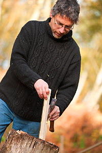 The National Forest Woodland craft � preparing wood to make a chair. Peter Wood runs Greenwood Days, teaching traditional woodland craft courses � like chair making � in the woodland. The business ben...  -  Ross Hoddinott / 2020VISION