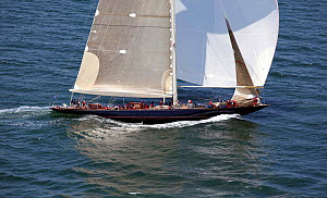"""J-Class """"Velsheda"""" during a race in the J Class Regatta, Newport, Rhode Island, USA, June 2011. All non-editorial uses must be cleared individually.  -  Billy Black"""