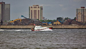 "Liverpool's newest pilot boat ""The Skua"" on a stormy River Mersey, Liverpool, England, May 2011. - Graham Brazendale"