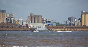 """HM """"Cutter Sentinel"""" on the River Mersey, Liverpool, England, May 2011. - Graham Brazendale"""