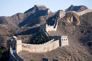 Jinshanling Section of the Great Wall of China, a highly authentic part of the wall that has not needed restoration for 400 years. November 2009. - Michel Petit