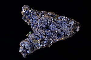 Galena (PbS, lead sulfide), the primary ore of lead, with Sphalerite. Sample from Gjudurska Mine, Madan district, Southern Rhodope mountains, Bulgaria.  -  John Cancalosi