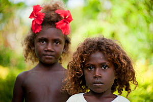 Melanesian children of Marovo Lagoon, New Georgia Islands, Solomon Islands, Melanesia, Pacific Ocean, July 2010 - Jurgen Freund
