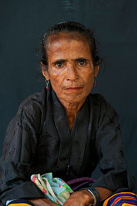 Portrait of East Timorese woman in traditional clothing, Maubara, East Timor, August 2010.  -  Jurgen Freund