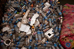 Plastic bottles and other rubbish in a creek in Dili, East Timor, August 2010  -  Jurgen Freund