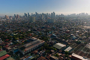 Aerial view of the densely populated city of Manila, Philippines, April 2010  -  Jurgen Freund