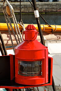 """Lantern on board tall ship """"Kathleen & May"""" berthed in Canning Dock, River Mersey, Liverpool, England, June 2011. - Norma Brazendale"""