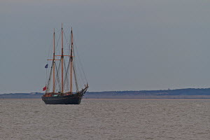 """Topsail schooner """"Kathleen & May"""" on the River Mersey, Liverpool, England, May 2011. ^^^ built in 1900 by Ferguson and Baird of Connah's Quay, she is the last surviving UK wooden merchant schooner an... - Graham Brazendale"""