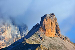 The mountain Torre dei Scarperi in the Dolomites, Italy. July 2010.  -  Philippe Clement