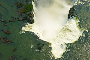 Aerial view of the Iguazu Falls, Brazil, August 2010. This image was highly commended at the 2011 Sony World Photography Awards. - Chris Schmid