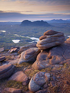 Looking northwest from Cul Mor summit, Assynt mountains, Highland, Scotland, UK, June 2011  -  Joe Cornish / 2020VISION