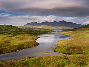 Quinag mountain with Loch Assynt in the foreground, Assynt mountains, Highland, Scotland, UK, June 2011  -  Joe Cornish / 2020VISION