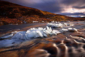 Broken ice on Glen Bracadale. Isle of Skye, Scotland, UK, December 2010. - David Noton