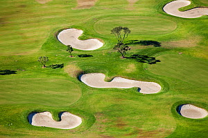 Aerial view of golf course, Western Cape, South Africa, August 2009 - Richard Du Toit